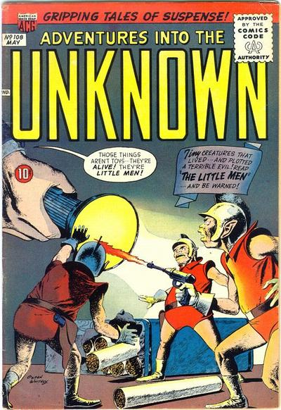 Cover for Adventures into the Unknown (1948 series) #108
