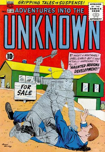 Cover for Adventures into the Unknown (American Comics Group, 1948 series) #128