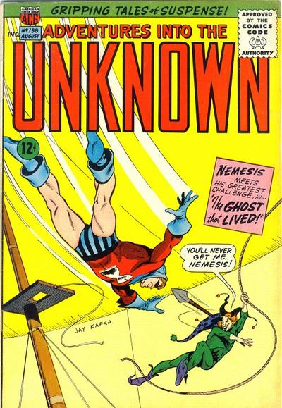 Cover for Adventures into the Unknown (American Comics Group, 1948 series) #158