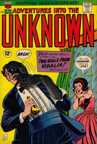 Cover for Adventures into the Unknown (American Comics Group, 1948 series) #169