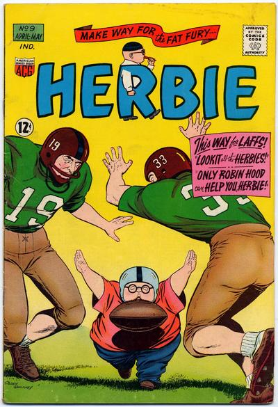 Cover for Herbie (American Comics Group, 1964 series) #9