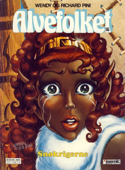 Cover for Alvefolket (Semic, 1985 series) #16 - Snøkrigerne