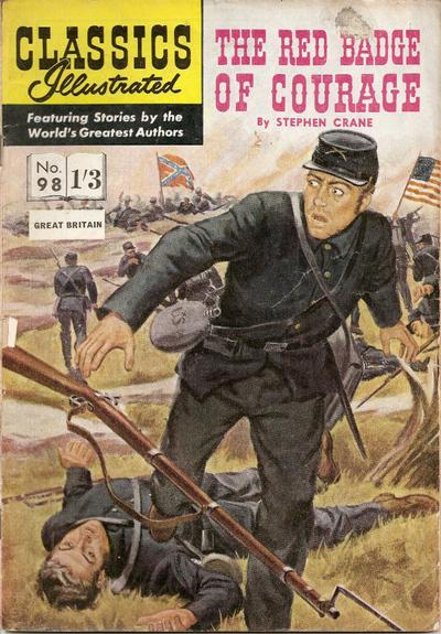 Cover for Classics Illustrated (Thorpe & Porter, 1951 series) #98 - The Red Badge of Courage