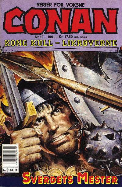 Cover for Conan (Bladkompaniet, 1990 series) #12/1991