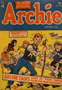 Cover Thumbnail for Archie Comics (Archie, 1942 series) #4