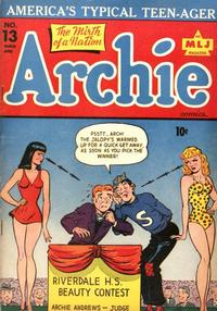 Cover Thumbnail for Archie Comics (Archie, 1942 series) #13