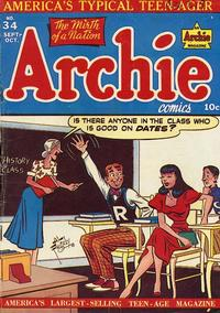 Cover Thumbnail for Archie Comics (Archie, 1942 series) #34