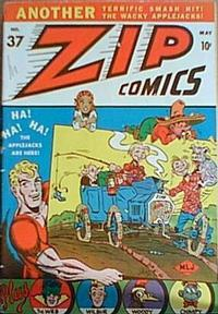 Cover Thumbnail for Zip Comics (Archie, 1940 series) #37