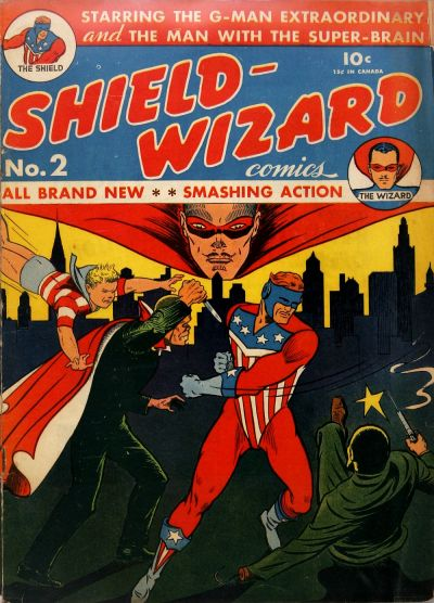 Cover for Shield-Wizard Comics (1940 series) #2