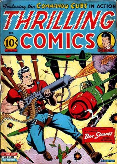 Cover for Thrilling Comics (Standard, 1940 series) #40