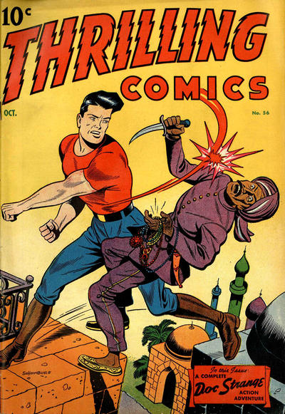 Cover for Thrilling Comics (Pines, 1940 series) #56