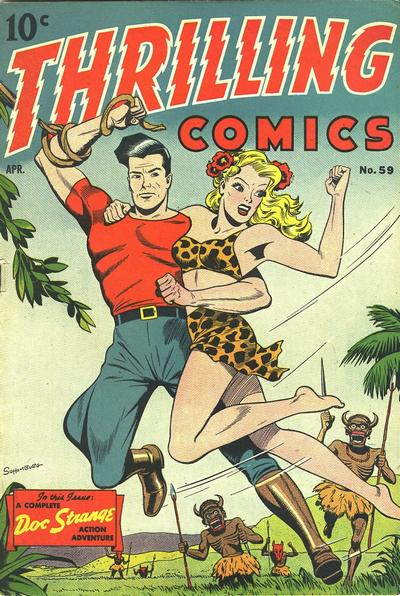 Cover for Thrilling Comics (1940 series) #59