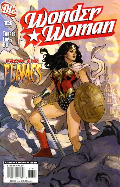 Cover for Wonder Woman (2006 series) #13 [Newsstand Edition]