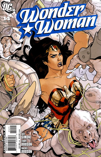 Cover for Wonder Woman (2006 series) #14 [Michael Golden Variant Cover]