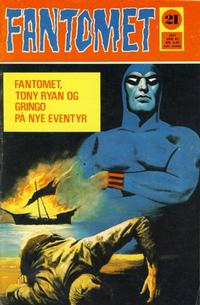 Cover Thumbnail for Fantomet (Romanforlaget, 1966 series) #21/1971
