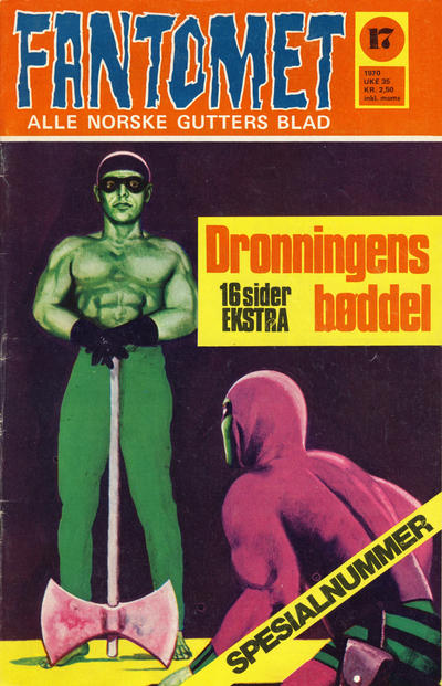 Cover for Fantomet (Romanforlaget, 1966 series) #17/1970