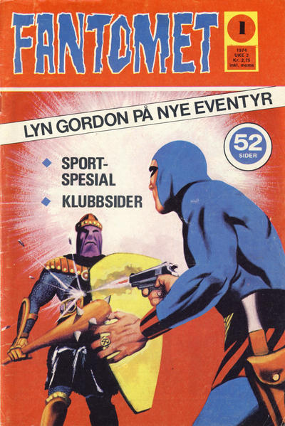 Cover for Fantomet (Nordisk Forlag, 1973 series) #1/1974