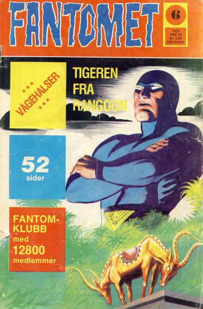 Cover for Fantomet (Nordisk Forlag, 1973 series) #6/1975
