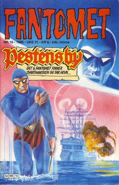 Cover for Fantomet (Semic, 1976 series) #16/1985