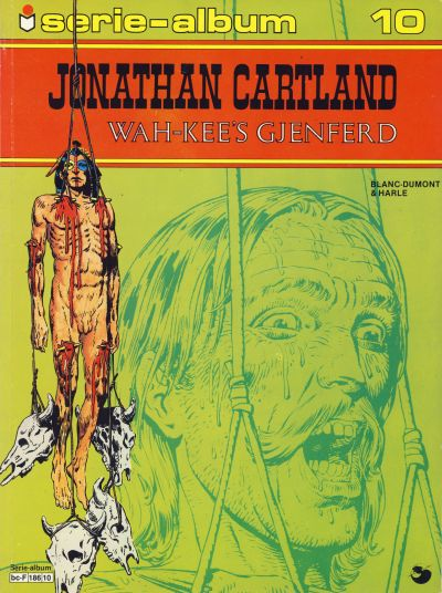 Cover for Serie-album (Semic, 1982 series) #10 - Jonathan Cartland - Wah-Kee's gjenferd