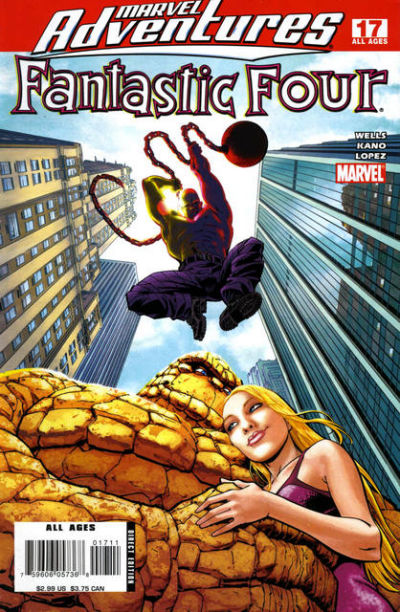 Cover for Marvel Adventures Fantastic Four (Marvel, 2005 series) #17