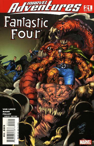 Cover for Marvel Adventures Fantastic Four (2005 series) #21