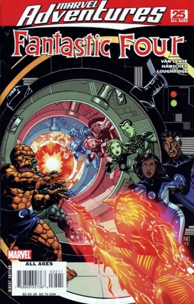 Cover for Marvel Adventures Fantastic Four (Marvel, 2005 series) #25