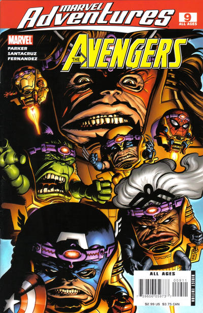 Cover for Marvel Adventures The Avengers (Marvel, 2006 series) #9