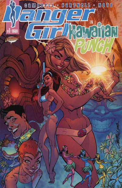 Cover for Danger Girl: Hawaiian Punch (2003 series) #1 [J. Scott Campbell Cover]