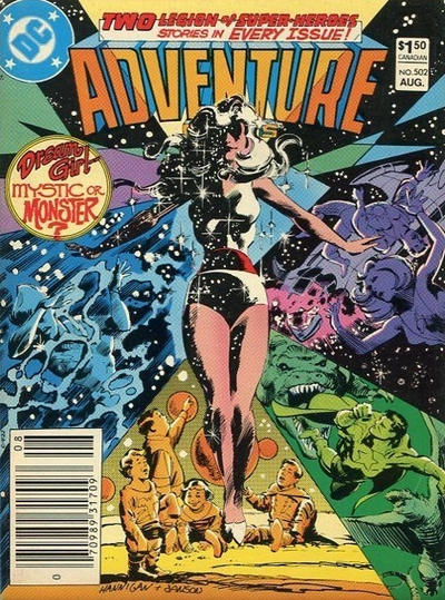 Cover for Adventure Comics (DC, 1938 series) #502 [Canadian Newsstand]