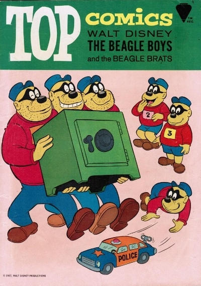 Cover for Top Comics Walt Disney The Beagle Boys (Western, 1967 series) #1