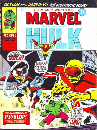 Cover for The Mighty World of Marvel (Marvel UK, 1972 series) #123