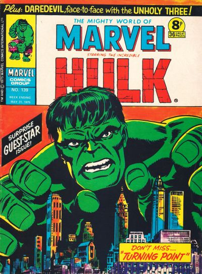 Cover for The Mighty World of Marvel (Marvel UK, 1972 series) #139