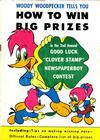 Cover for Woody Woodpecker Tells You How to Win Big Prizes (Western, 1956 series)