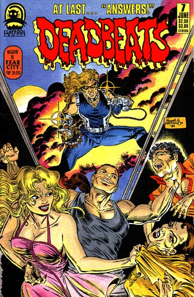 Cover for Deadbeats (Claypool Comics, 1993 series) #7