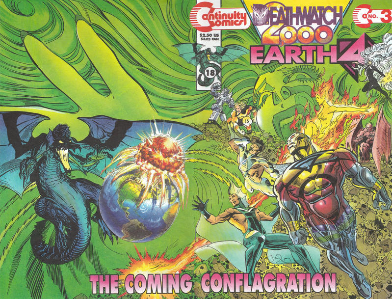 Cover for Earth 4 Deathwatch 2000 (Continuity, 1993 series) #3
