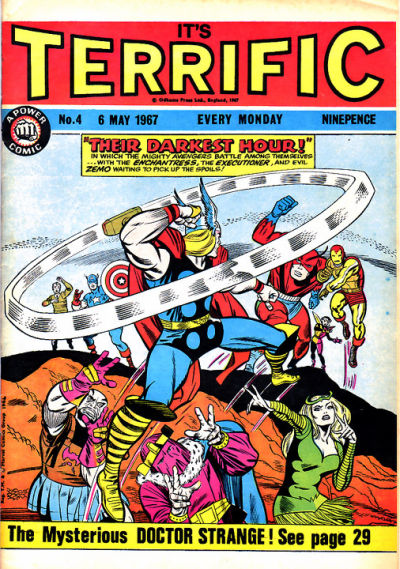 Cover for Terrific! (IPC, 1967 series) #4