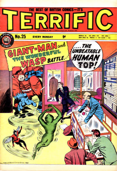 Cover for Terrific! (IPC, 1967 series) #25
