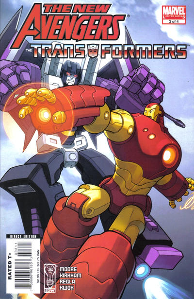 Cover for New Avengers/Transformers (Marvel, 2007 series) #3