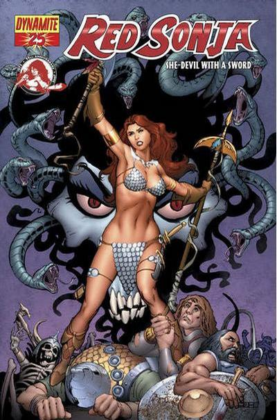 Cover for Red Sonja (Dynamite Entertainment, 2005 series) #25 [Art Adams Cover]
