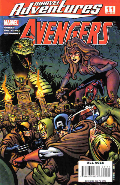 Cover for Marvel Adventures The Avengers (Marvel, 2006 series) #11