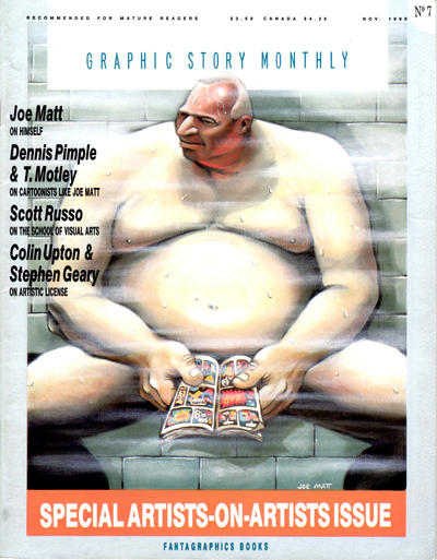 Cover for Graphic Story Monthly (Fantagraphics, 1989 series) #7