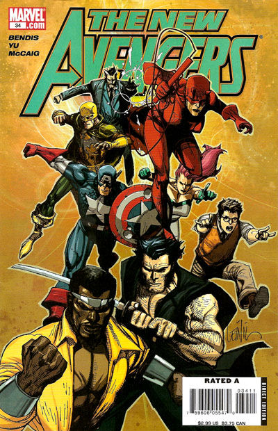 Cover for New Avengers (Marvel, 2005 series) #34