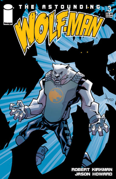 Cover for The Astounding Wolf-Man (2007 series) #3 [second printing]