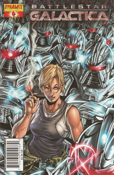 Cover for Battlestar Galactica (Dynamite Entertainment, 2006 series) #4 [Cover B - Nigel Raynor]