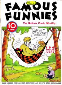 Cover Thumbnail for Famous Funnies (Eastern Color, 1934 series) #13