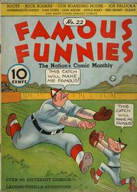 Cover Thumbnail for Famous Funnies (Eastern Color, 1934 series) #22