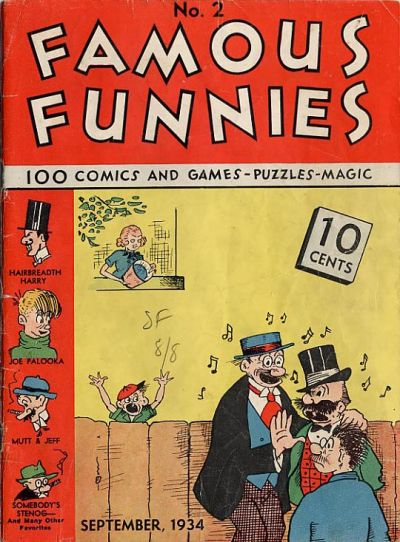 Cover for Famous Funnies (Eastern Color, 1934 series) #2
