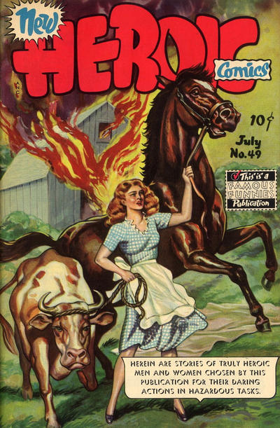 Cover for New Heroic Comics (1946 series) #49