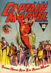 Cover Thumbnail for Captain Marvel Adventures (Fawcett, 1941 series) #6